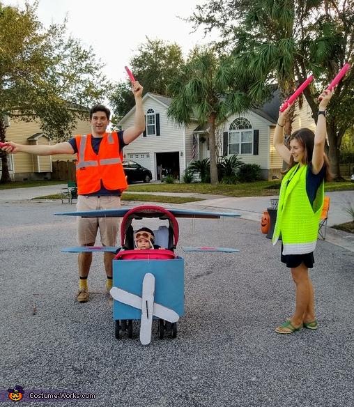 Baby Pilot Homemade Costume