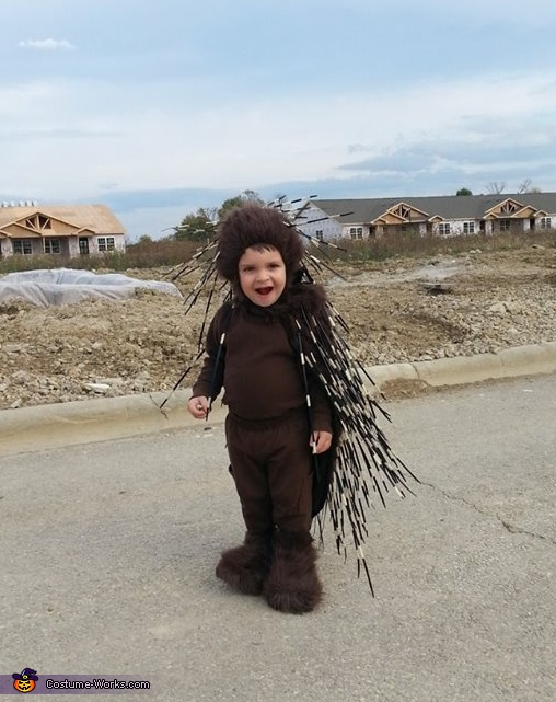 View from the front, Baby Porcupine Costume