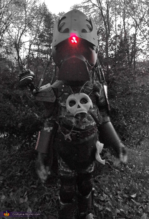 Yeah, it lights up too, Baby Predator Costume