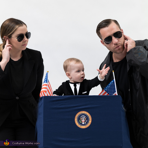 Baby President 2020 & his Secret Service Costume