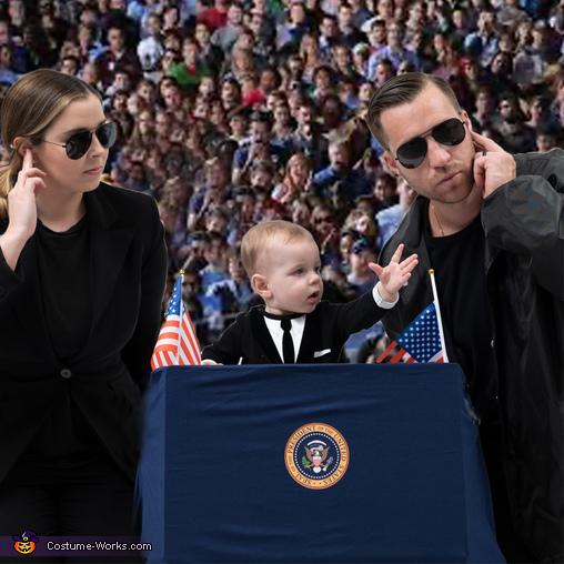 Baby President 2020 & his Secret Service Homemade Costume