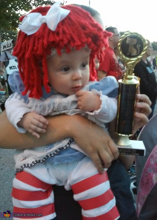 'That trophy is for ME?!?', Baby Raggedy Ann Costume