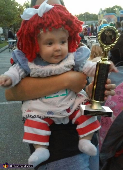 'YAY! My very first trophy!', Baby Raggedy Ann Costume