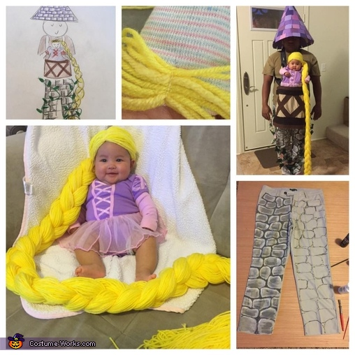 Here are some pictures of the costume-making process Macie-punzel Costume  sc 1 st  Costume Works & Baby Rapunzel in her Tower Costume - Photo 3/3
