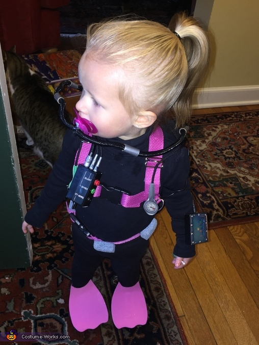 Baby Rebreather Diver Homemade Costume