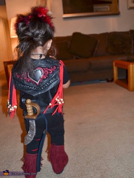 back of her Rufio costume, Baby Rufio Costume