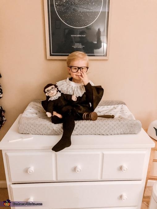Baby Ruth Bader Ginsburg Homemade Costume