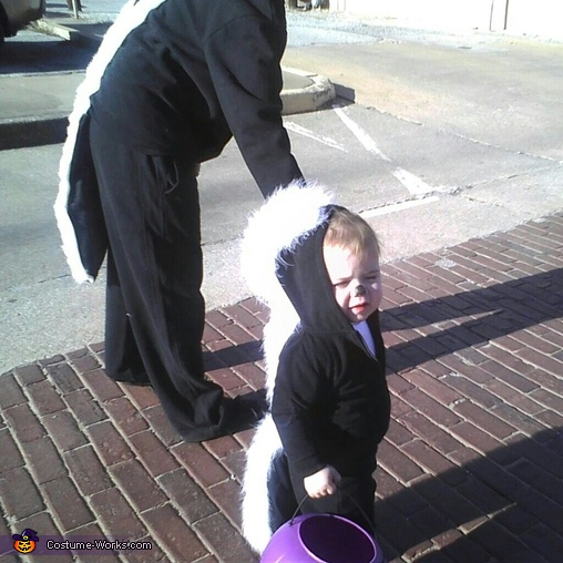 Baby Skunk and Mommy Skunk Costume