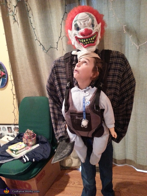 scared baby, Baby Snatcher or Baby Abductor Costume