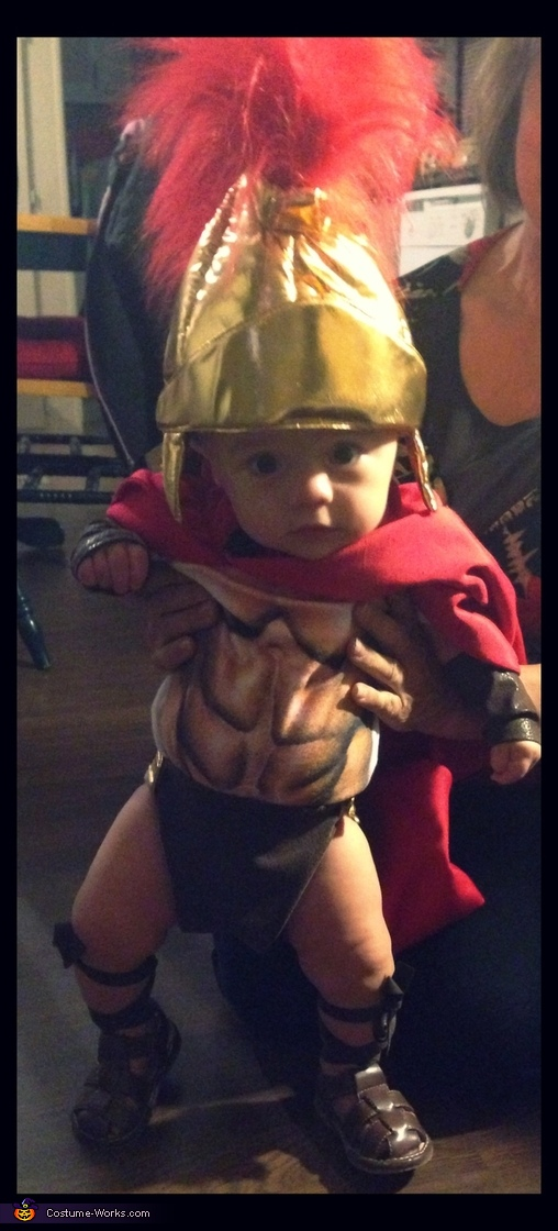 Baby Spartan Homemade Costume