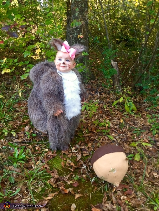 Squirreling around, Baby Squirrel Costume