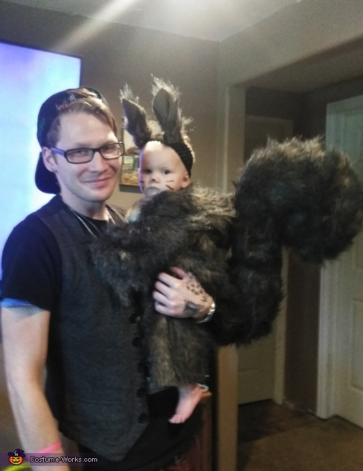 Squirrel with dad, Baby Squirrel Costume