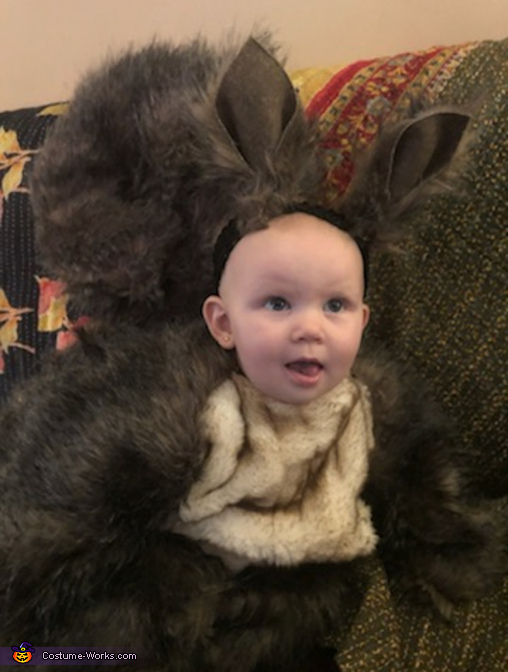 Front view, Baby Squirrel Costume