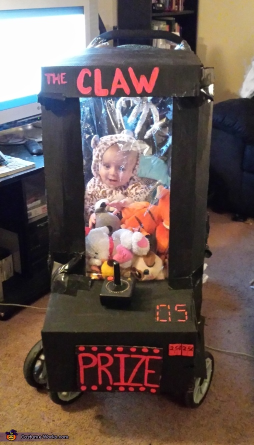 Baby stuck in Arcade Game Homemade Costume