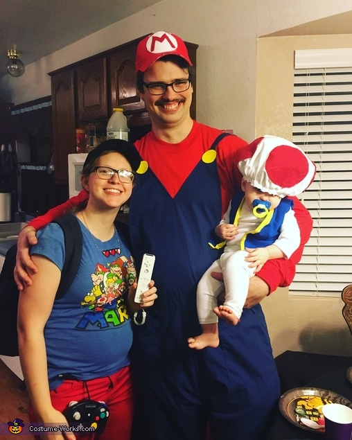 With Mario and Gamer girl, Baby Toad Costume