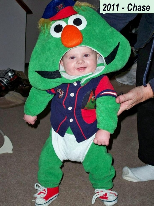Baby Wally the Red Sox Mascot Costume