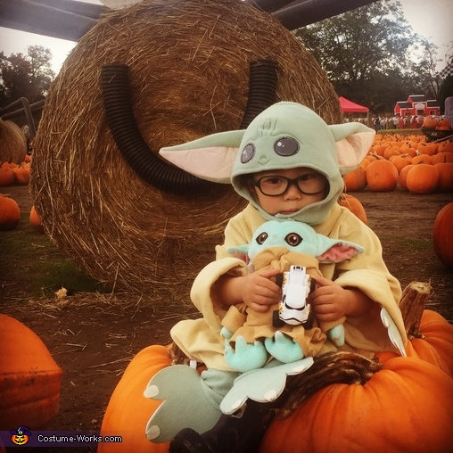 Baby Yoda loves Halloween and pumpkins, Baby Yoda Costume