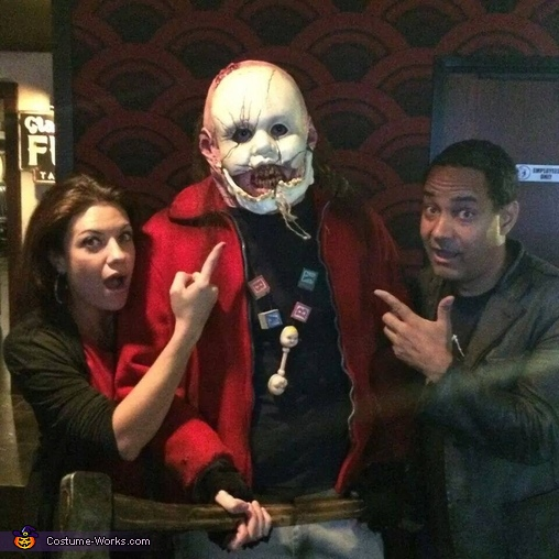 With Jeffrey Redick, the creator of the Final Destination series and Tiffany Shepis of Sharknado 2., Babyface Costume