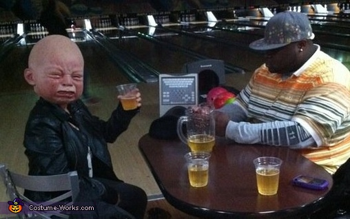 bowling with my buddy, Babyhead Costume