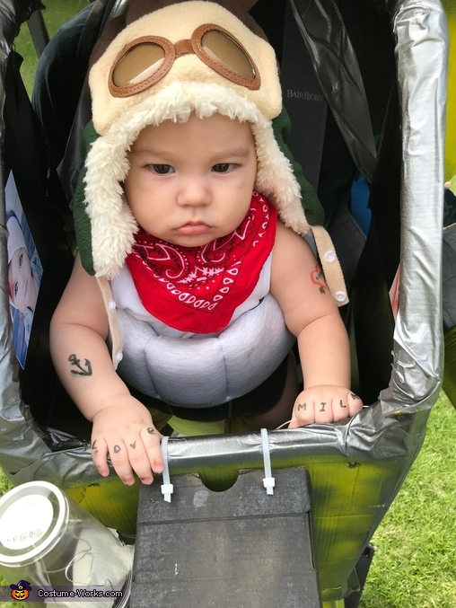 Babymech (close up with tattoos), Babymech Costume