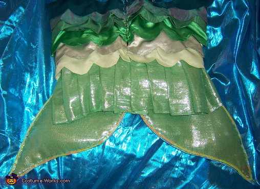 Back of tail, Mermaid Costume