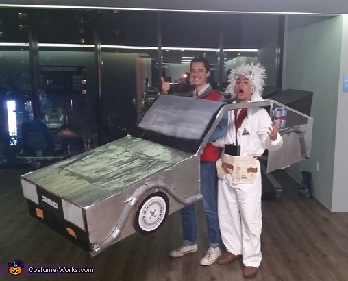 Marty McFly: Where are we? When are we? Doc: We're descending toward Hill Valley, California, at 4:29 pm, on Wednesday, October 21st, 2015., Back to the Future Costume