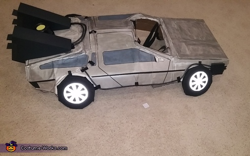 Delorean Top View, Back to the Future Delorean Time Machine Costume