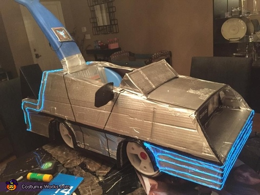 Side view- lit up, Back to the Future Family Costume