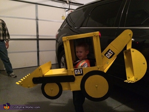Gettting ready to head out to work, Backhoe Costume