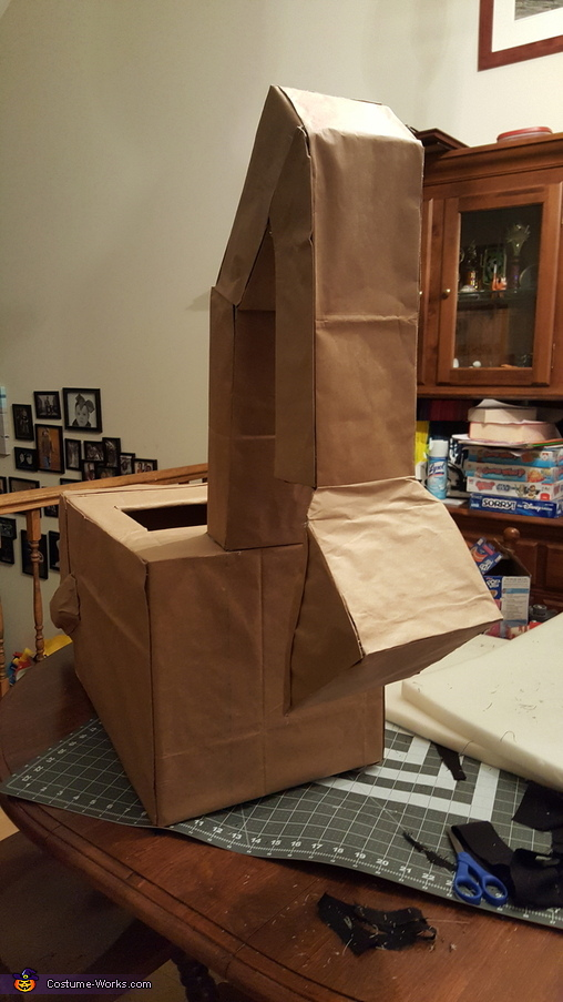 Backhoe Toddler Homemade Costume