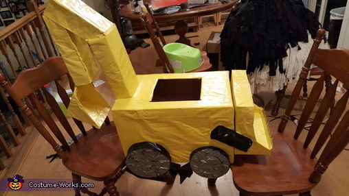 Backhoe Toddler Homemade Costume