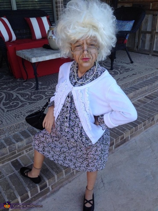 Bad Grandma Girl's Costume
