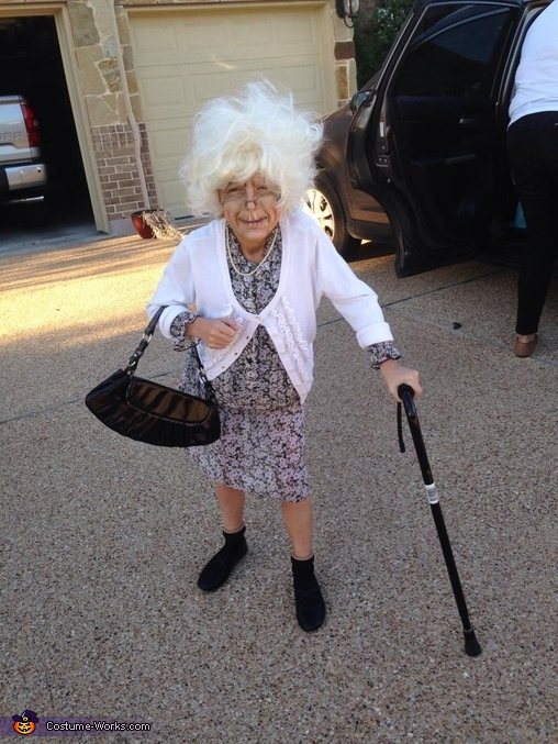 Bad Grandma Costume  sc 1 st  Costume Works & Bad Grandma Girlu0027s Costume