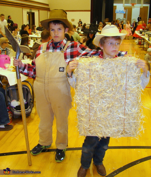 Bail of Hay and Farmer, The Family Farm Costume