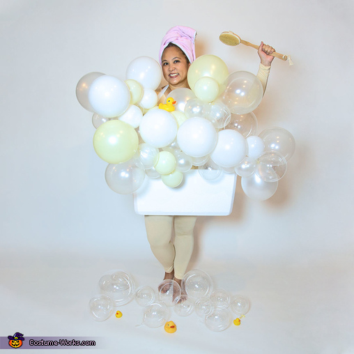 Bathtub with Balloons, Balloons Galore Family Costume