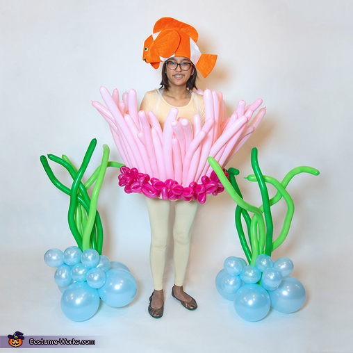 Sea Anemone with Balloons, Balloons Galore Family Costume