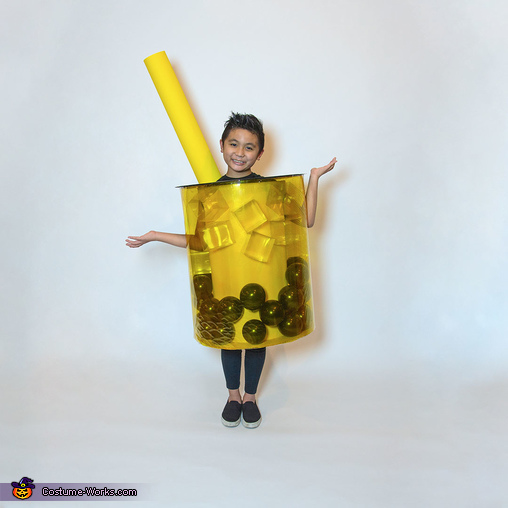 Bubble Tea Drink with Balloons, Balloons Galore Family Costume