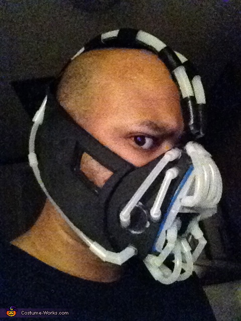 tubes in place,  Bane Costume The Dark Knight Rises