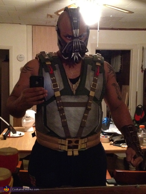 finished mask and vest, The Dark Knight Rises Bane Costume