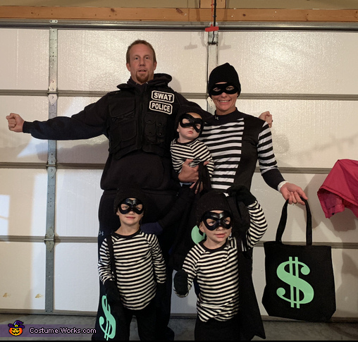 Bank Robbers and a Swat Team Member Costume