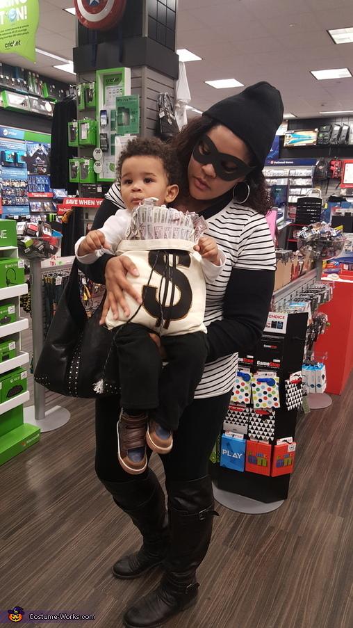 Bank Robbers and Money Bag Homemade Costume