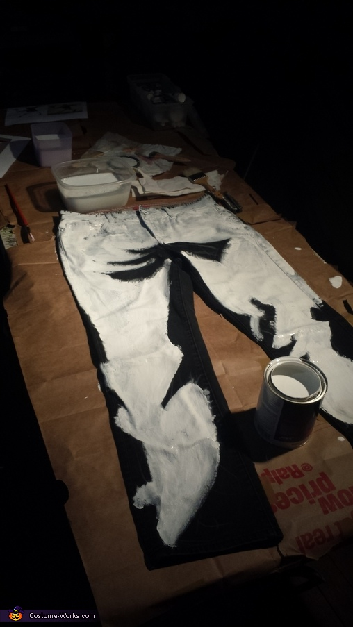My creative process in making the costume, Banksy's Flower Thrower Costume