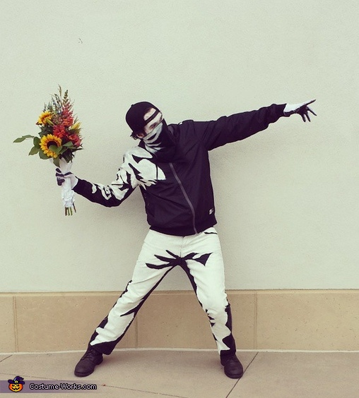Banksy's Flower Thrower Costume