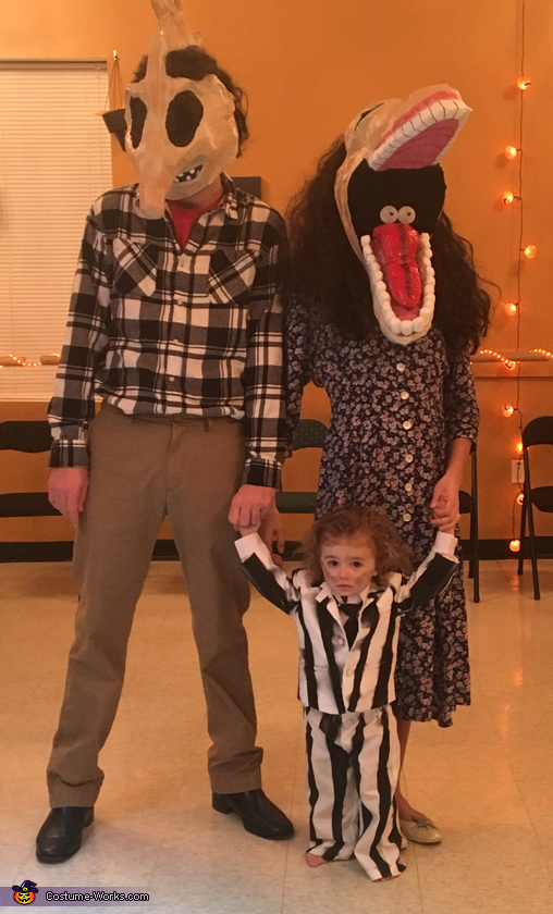 Barbara and Adam Maitland with Beetlejuice Costume