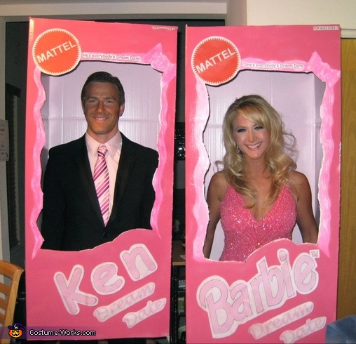 Barbie & Ken - Homemade costumes for couples