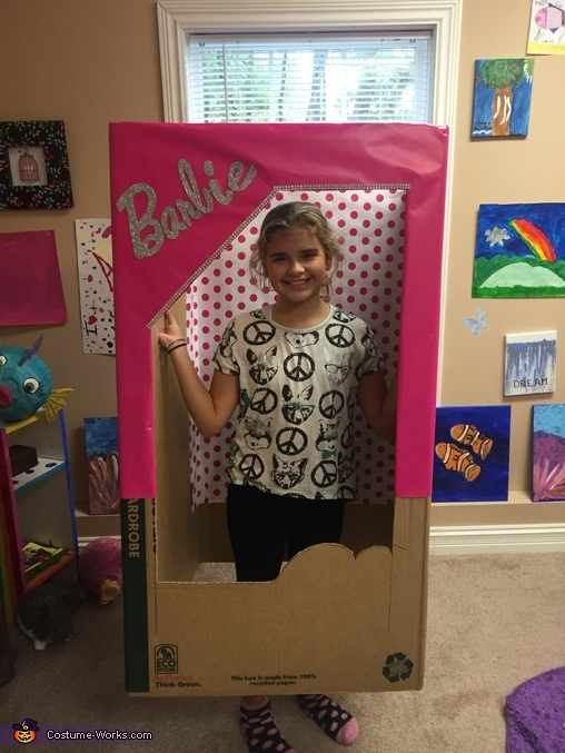 Half way there, Barbie in a Box Costume