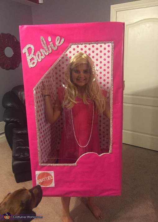 Almost done , Barbie in a Box Costume