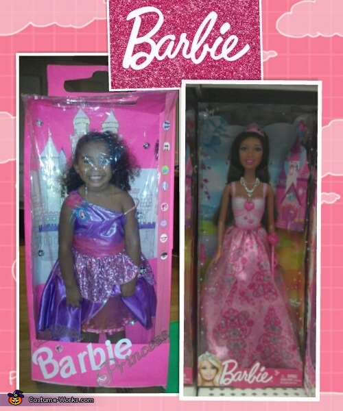 Barbie Princess in the Box - Homemade costumes for girls