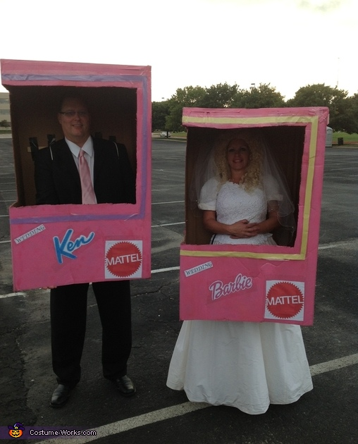 Barbie Wedding and Ken in a Box Costume