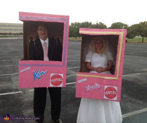 Barbie Wedding and Ken in a Box Homemade Costume